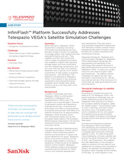 InfiniFlash™ Platform Successfully Addresses Telespazio VEGA's Satellite Simulation Challenges