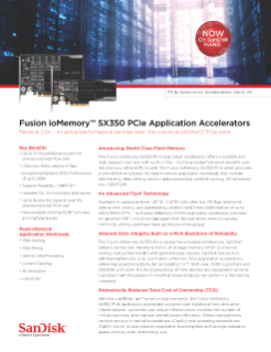 Fusion ioMemory SX350 PCIe Application Accelerators