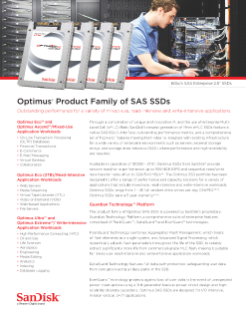 Optimus Product Family of SAS SSDs